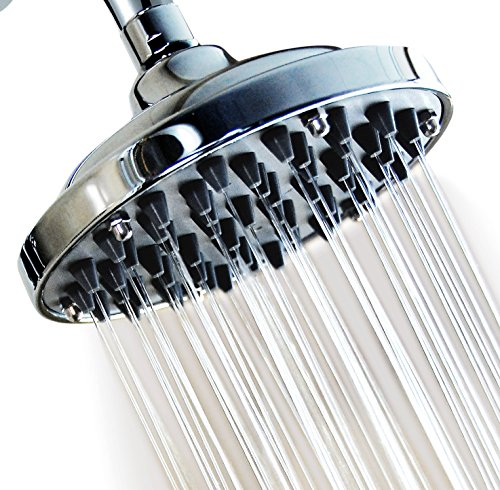 WantBa 6 Inches Massage (57 Jets) Rainfall High Pressure Disassembly Capacity Shower Head Powerful Rain Spray Showerhead (Shower Head Massage High Pressure compare prices)