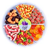 Gift Universe Special Halloween Candy Tray with Dracula Teeth, Mike&Ike, Candy Corn and More, 2.5 Lbs