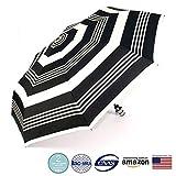 Soges Umbrellas Business Umbrella Auto Open and Close Travel Umbrella Windproof, Black