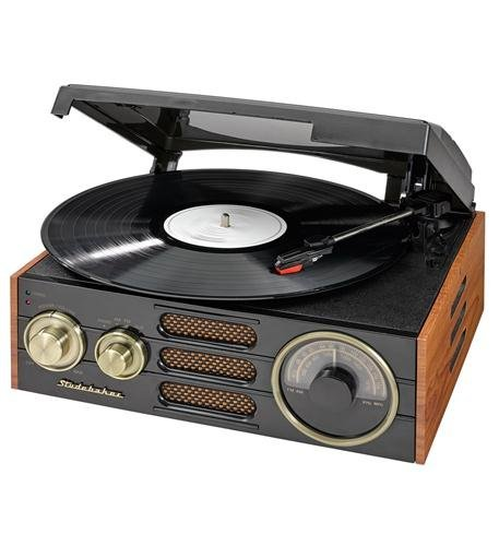 Studebaker Sb6055 3-speed Stereo Turntable With Am/fm Stereo Radio (Turntable Am Fm compare prices)