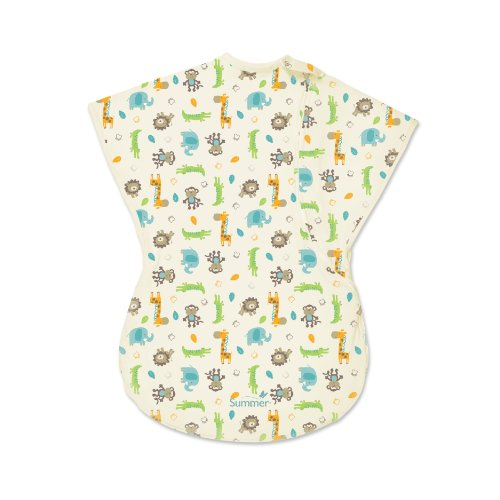 Summer Infant ComfortMe Wearable Blanket, Sketchy Safari, Large