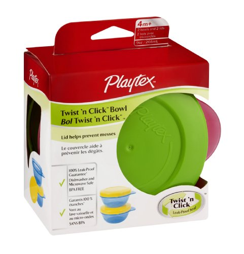 Playtex Snack Bowls with Twist N Click - Girl - 2 ct - 1