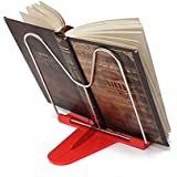 Generic Angle Foldable Reading Book Stand Document Holder-Red