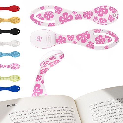 book-light-for-reading-pink-flower-clip-on-led-bookmark-the-flexilight-is-ideal-for-reading-in-bed-a