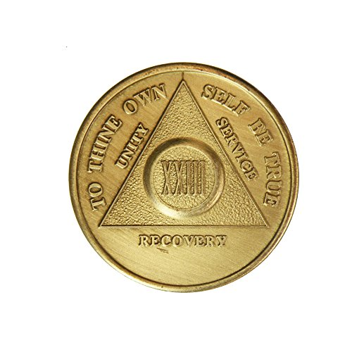 23 Year Bronze AA (Alcoholics Anonymous) - Sobriety / Birthday / Anniversary / Recovery / Medallion / Coin / Chip - 1