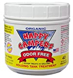 Happy Campers Organic RV Holding Tank Treatment - medium jar, 40 treatments for RV, Marine, Camping, Portable Toilets