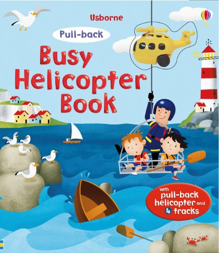 Busy Helicopter (Usborne Pull-back Books) (Pull-Back Series)