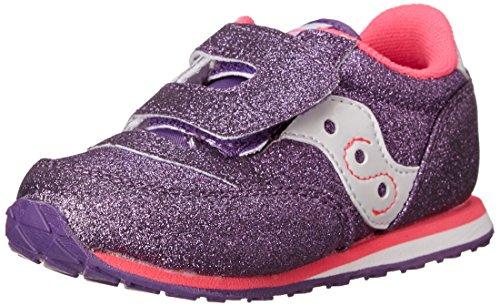 Saucony Girls Baby Jazz Hl Flat (Toddler/Little Kid),Purple/Pink,4 M Us Toddler front-928049