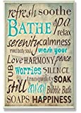 The Stupell Home Decor Collection Bathe Wash Your Worries Typography Bath Wall Plaque