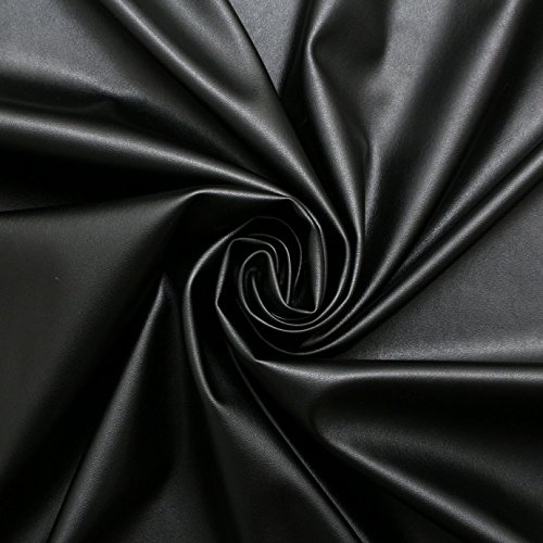 black-faux-leather-dress-making-clothing-leatherette-lycra-stretch-fabric-pvc-material