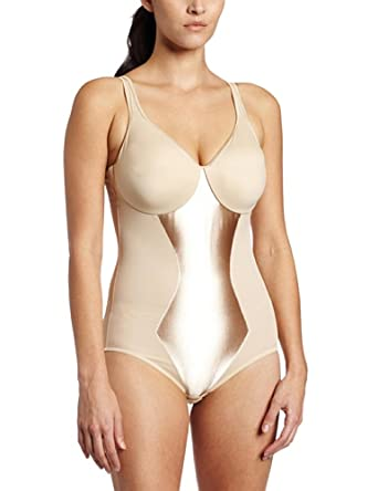 Flexees by Maidenform Womens Firm Control Minimizer Bodybriefer, Latte Lift, 42DD