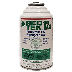 2 Cans - RED TEK R12a Refrigerant (6 Oz. Can) Freon Replacement