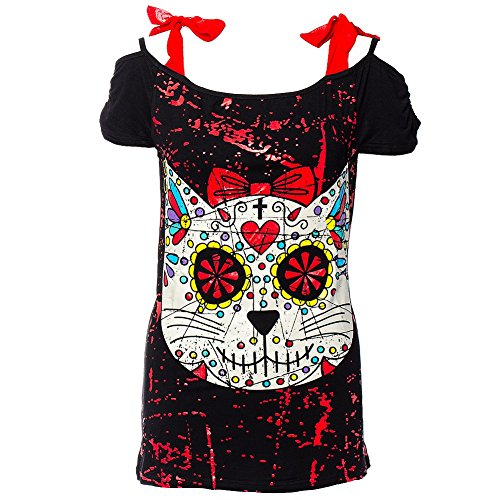 Top Kitty Skull Banned (Nero) - X-Large