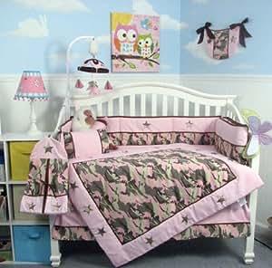 Amazon.com : SOHO Girl Camo Baby Crib Nursery Bedding Set