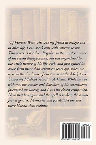 Herbert West: Reanimator (annotated)