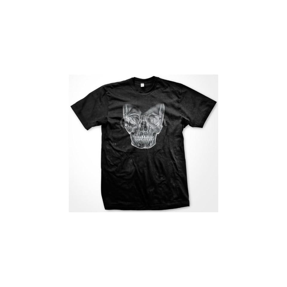 Realistic Skull T shirt, Men's Old School Tattoo Shirts Clothing
