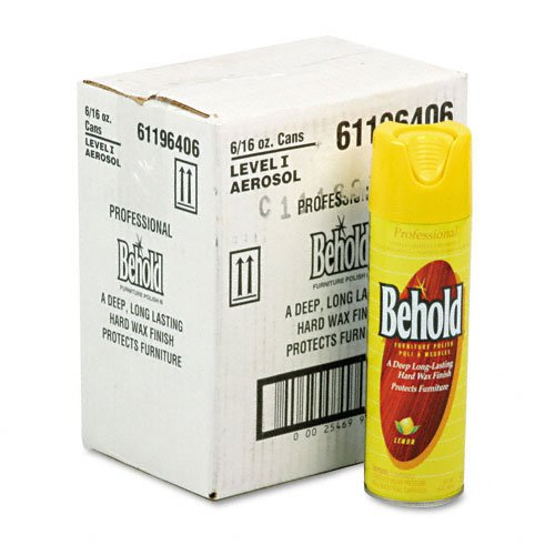 Ecolab Products - Ecolab - Professional Behold Furniture Polish, 16-oz Aerosol Cans, 6/Carton - Sold As 1 Carton - A blend of lemon oil, wax and cleaners. - Protects furniture with a long-lasting hard wax finish. - Formula comes packaged in a convenient aerosol can for quick and controlled application.