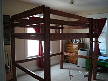 Your Own Bunk Bed DIY Plans for Twin FULL Queen or KING sizes Adult ...