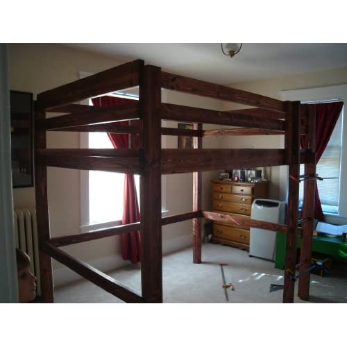 King OR Full over Queen OR Twin over Full BUNK BED Pattern DIY PLANS ...