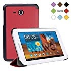 WAWO Samsung Tab 3 Lite 7.0 Inch Tablet Fold Case Cover - red