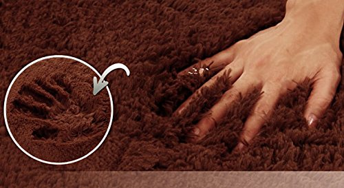 Fashion Thicken Soft Coffee Color Carpet Floor Living Room Area Rug Mat Bedroom Home Carpets Doormat Washable Size 80*160*3 Cm