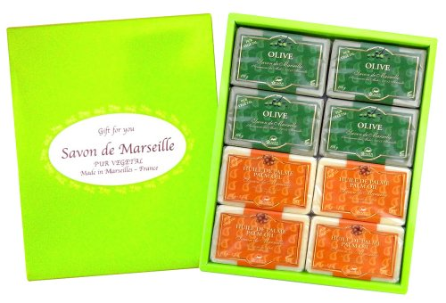 石鹸 カンパーニュ・デュ・サボン・ドゥ・マルセイユ オリーブ&パーム100g詰合せセット