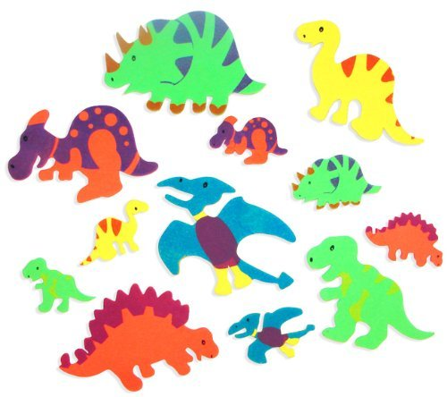 Foam Adhesive Dinosaur Shapes (500 pc) by Fun Express - 1