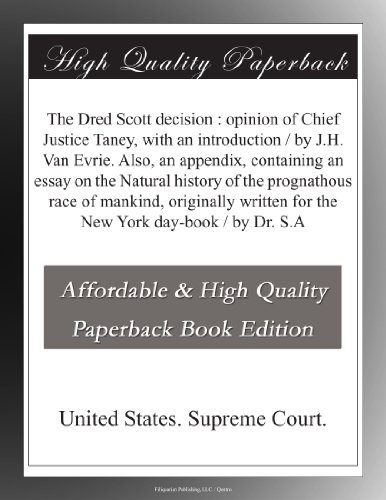the dred scott decision essay Dred scott research papers examine the dred scott decision, the 1857 ruling in dred scott v sanford was instrumental in lurching the united states towards the civil war.