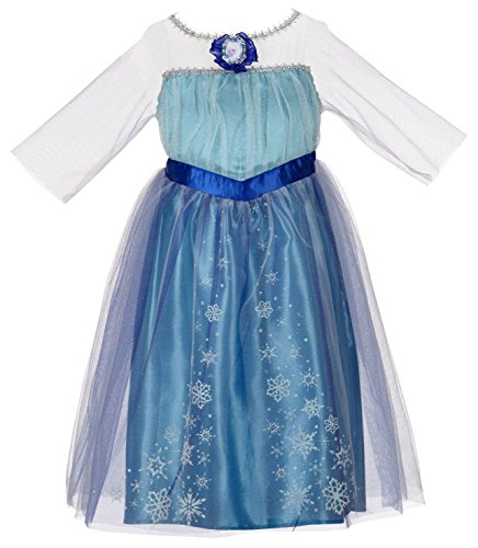 Disney Frozen Little Girls Elsa Dress Up Nightgown No Size Blue