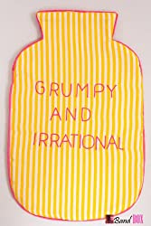 Bandbox Grumpy & Irrational Hot Water Bag Cover - Green & Yellow (Size:- 13 in. x 8 in.)