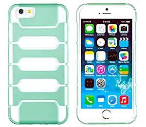 """iPhone 6 Plus + Case, DandyCase 2in1 SURVIVOR Full-Body Dual Layer Shock-Protector Slim Case Cover for Apple iPhone 6 Plus (5.5"""" screen) - LIFETIME WARRANTY (Mint Green & White)"""