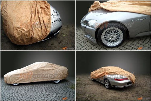 softgarage beige MERCEDES-BENZ 123 (W123) lang Faltgarage Carcover
