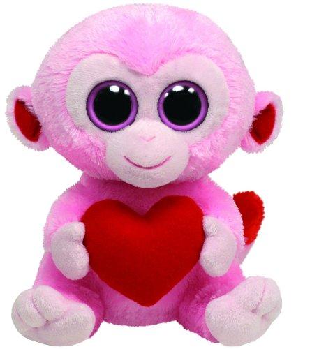 Imagen de Ty Beanie Boos Mono Julep rosa con corazón