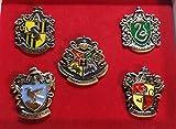 Harry Potter House Crest Logos Boxed Set of 5 Metal w/ Enamel Finish Pins
