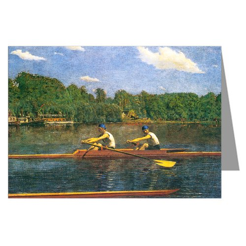 The Biglin Brothers Racing by Thomas Eakins Large Fine Art Greeting Card Set (Biglin Brothers compare prices)