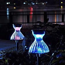 Outdoor Waterproof Solar Power Skirt Shape Path Light For Yard Lighting Decoration