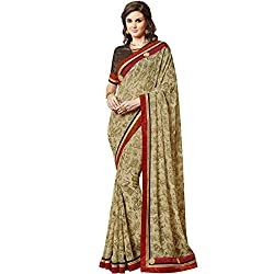 Vasu Saree Fetching Beige Georgette Designer Saree