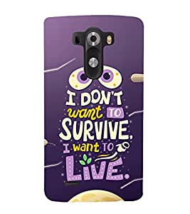 Vizagbeats Survive and Live Quote Back Case Cover for LG G3::LG G3 D855