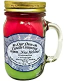 Mmm... Nice Melons! Scented 13 oz Mason Jar Candle - Made in the USA by Our Own Candle Company