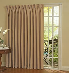Amazon Com Eclipse Thermal Blackout Patio Door Curtain