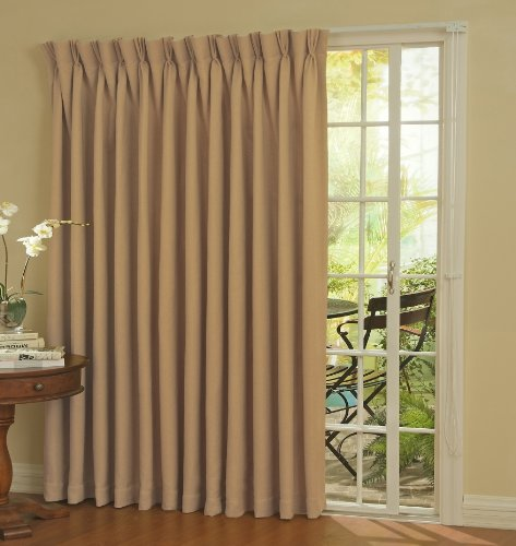 Eclipse Thermal Blackout Patio Door Curtain Panel, 100″ x 84″ Wheat