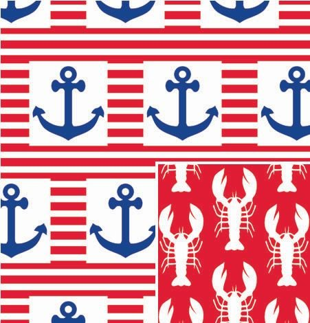 "Ship Ahoy Reversible Gift Wrap Roll 24"" X 15"