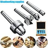 Pack of 4Pcs MT1 Wood Lathe Live Center + Drive Spur Cup Arbor with Wood Case