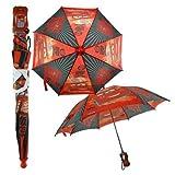 Disney Pixar Cars Boy's Red World Grand Prix 3D Handle Umbrella