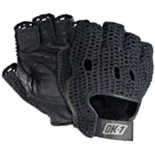 OK-1 32203 Leather Lifter Gloves, Black, Medium
