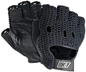 OK-1 32202 Leather Lifter Gloves, Black, Small