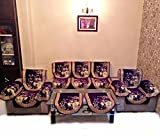 MAHAK CHENILLE PURPLE SOFA SLIPCOVER SET WITH 6 ARMS COVER