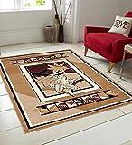 Vugis Beautiful Polypropylene Carpet 4x6 FT