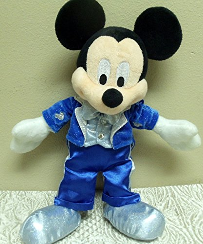 "Disney Blue Sparkly Classic Style Dream Friends 10"" Mickey Mouse Plush Doll - 1"