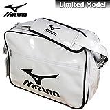 (ミズノ) MIZUNO エナメル ショルダーバッグ エナメルバッグ Lサイズ 16DA307 70 ホワイト×ブラック Lサイズ (70) ホワイト×ブラック
